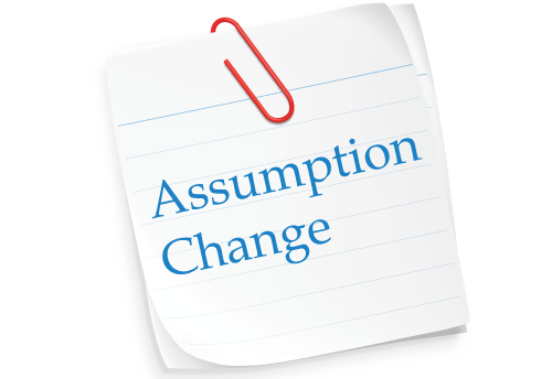 Assumption Changes